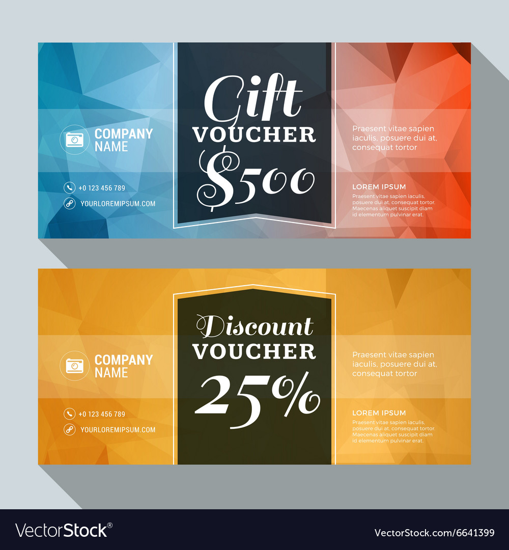 Gift And Discount Voucher Design Print Template Vector Image  Discount Voucher Design