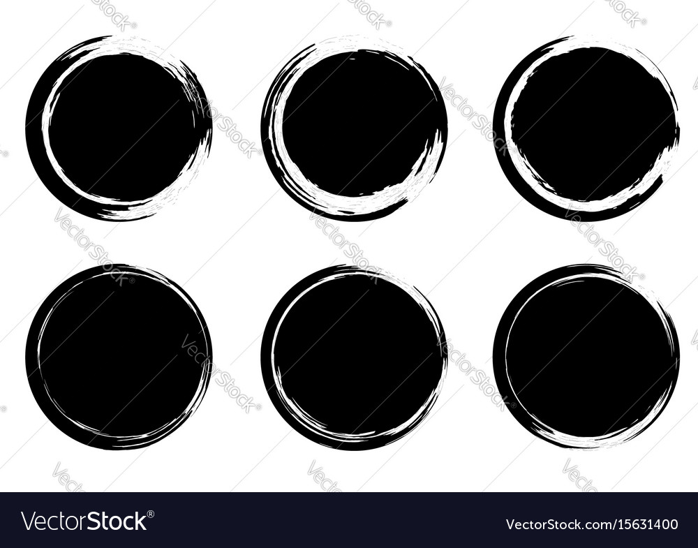 Grunge circle stamps badges insignia templates vector image