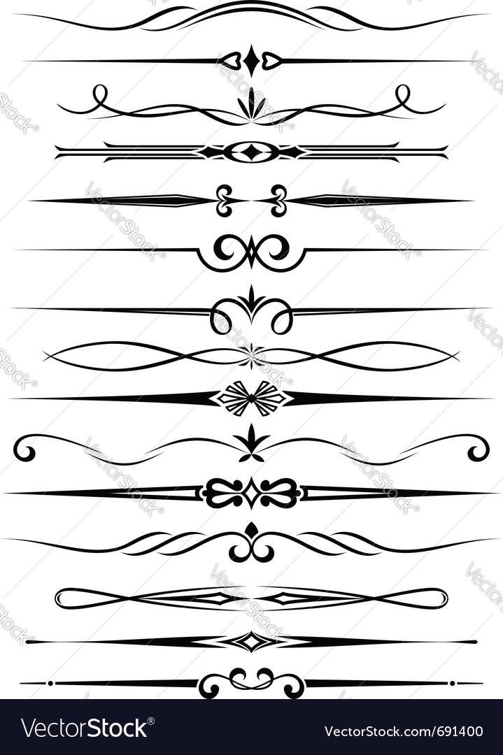 Vintage dividers vector image