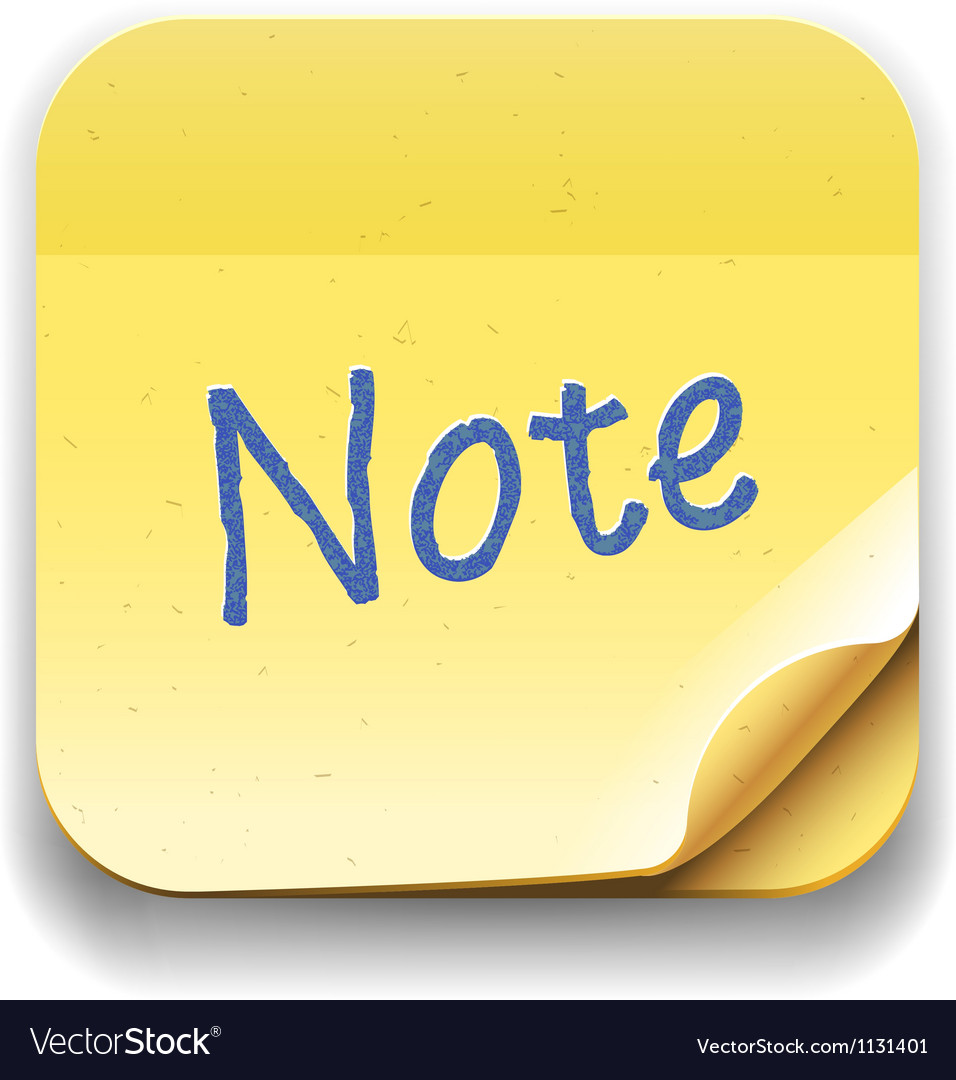 User interface note icon Eps10 image vector image
