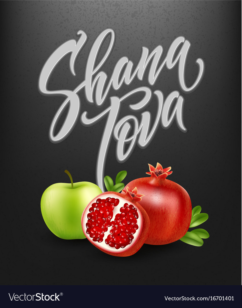 A greeting card with stylish lettering shana tova vector image a greeting card with stylish lettering shana tova vector image kristyandbryce Images