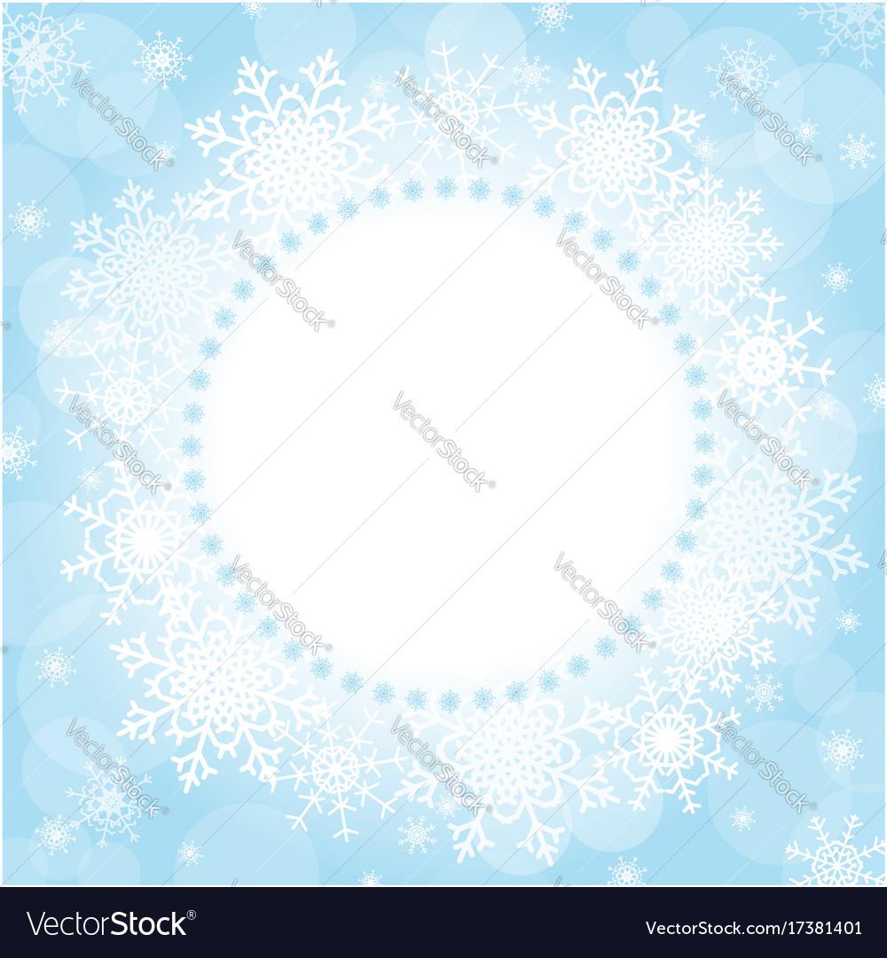 Christmas snowflakes frame vector image