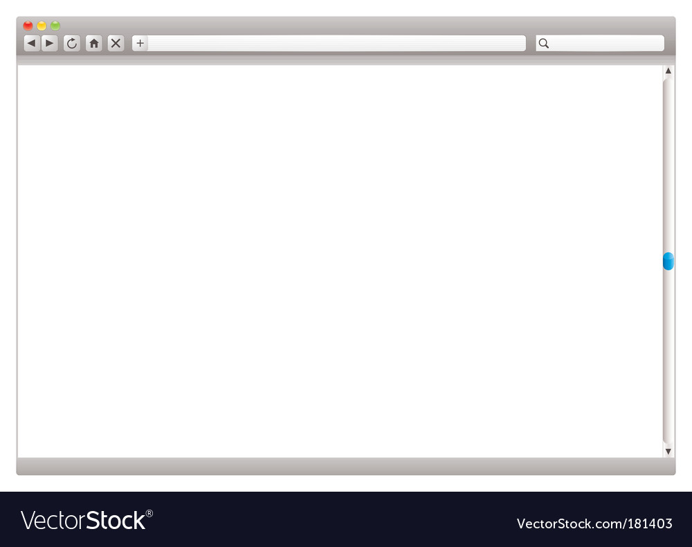 Internet web browser slider vector image
