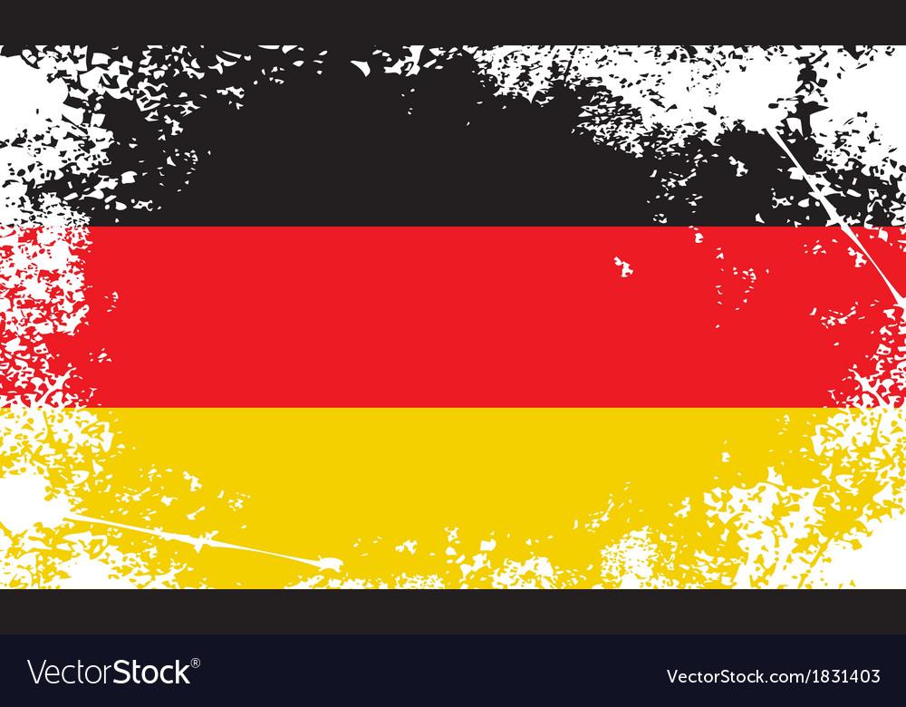 Germany grunge flag vector image