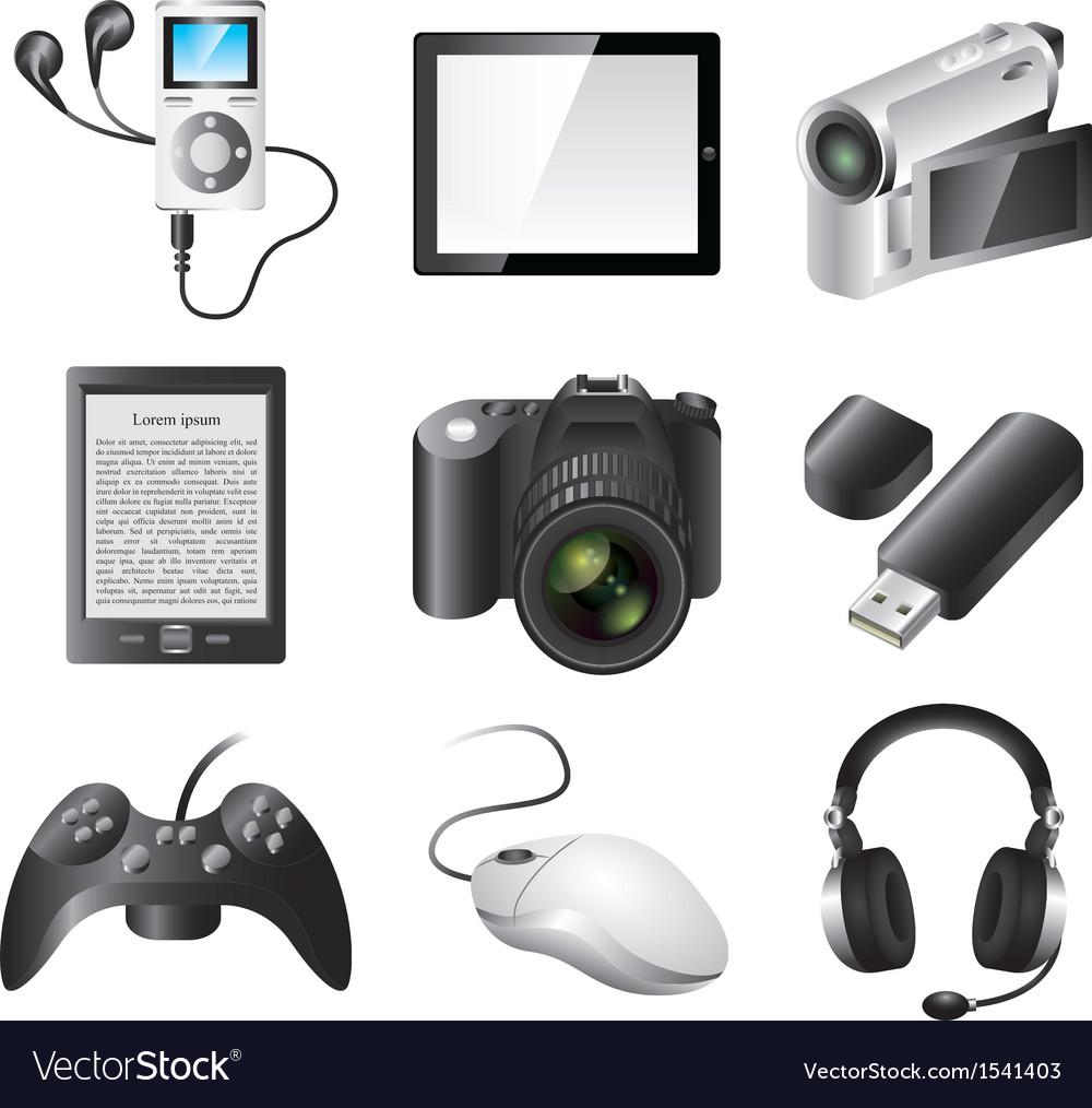 Icons technic vector image