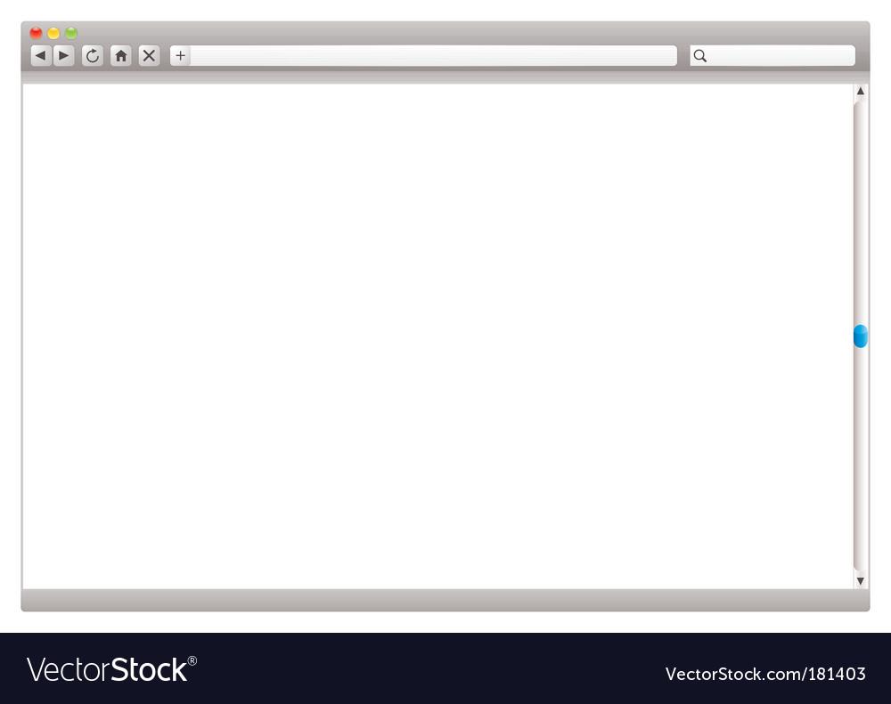 Internet web browser slider vector image