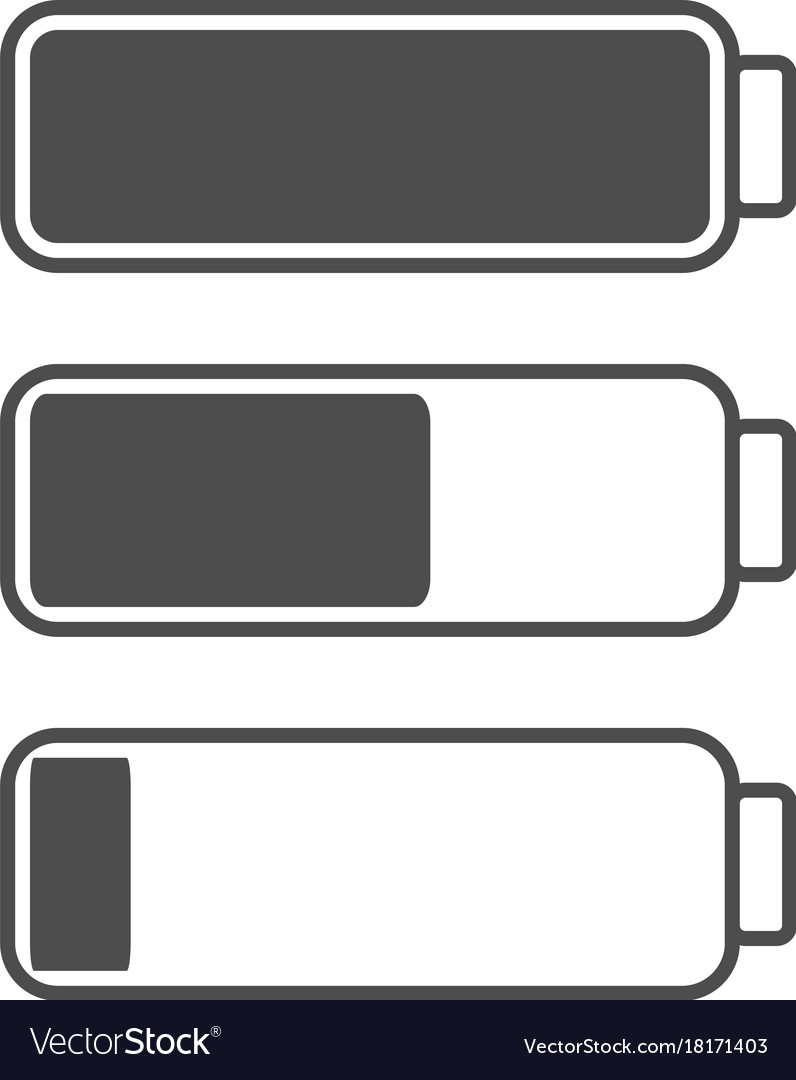 Smartphone or cell phone low battery icon low vector image biocorpaavc Images