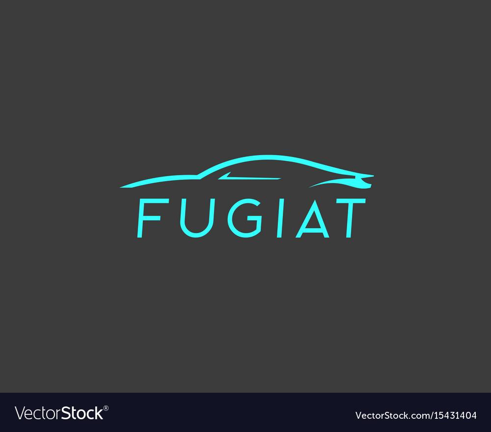 Abstract car logotype auto icon symbol vector image