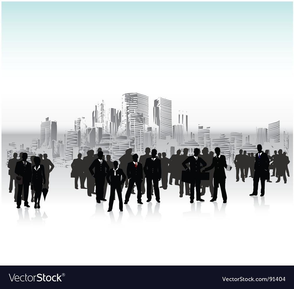 Urban crowd vector image