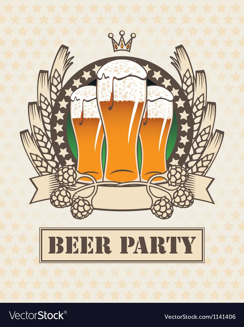 Three beers vector image