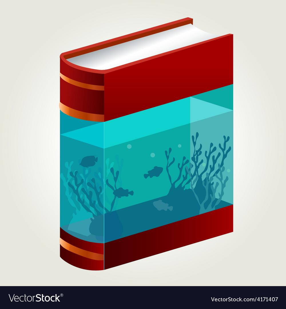 Book Aquarium vector image