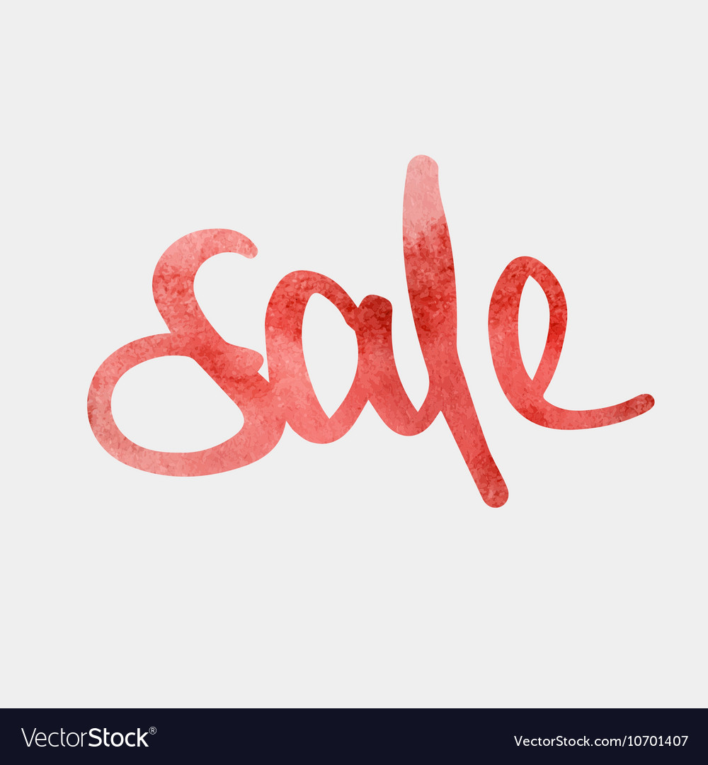 Sale red watercolour vector image