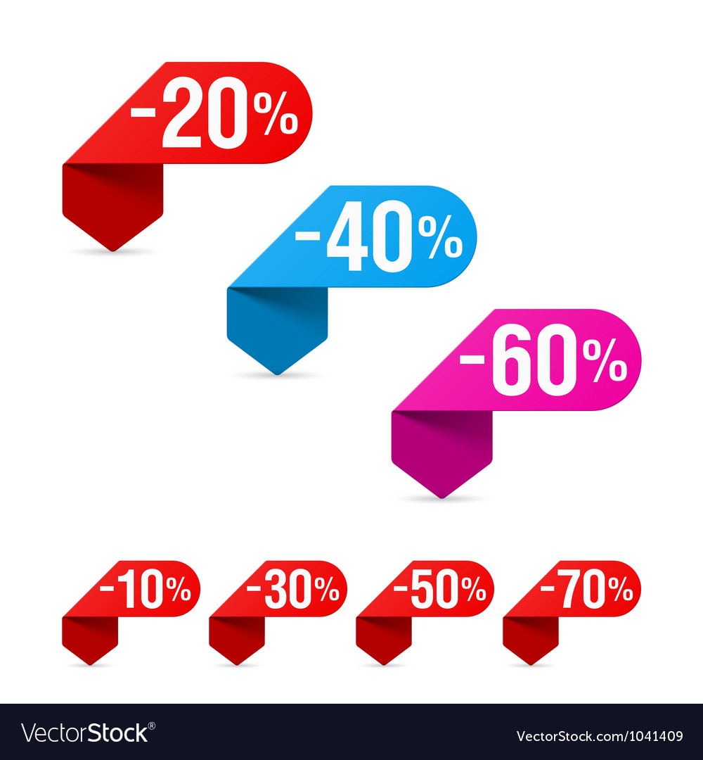 Discount signs Vector Image