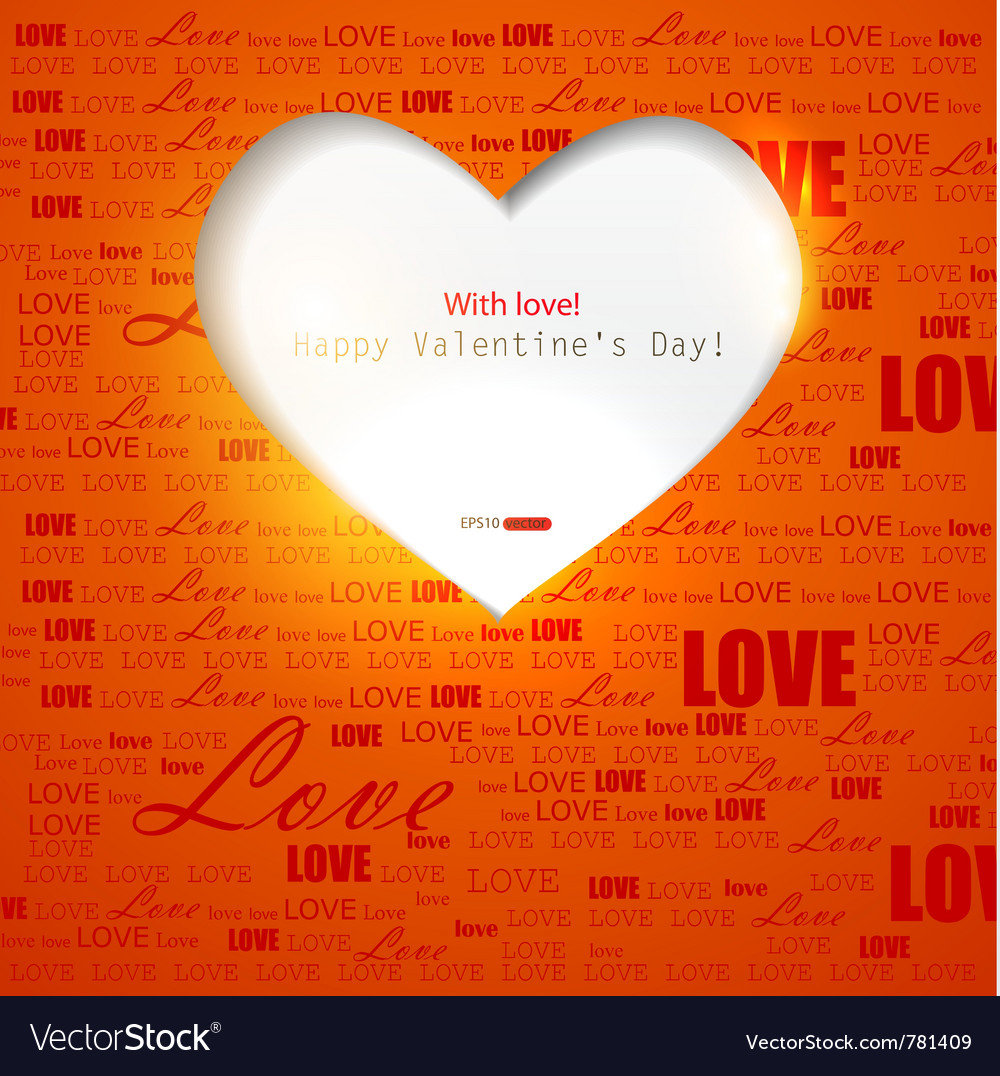 Gift card valentines day Vector Image