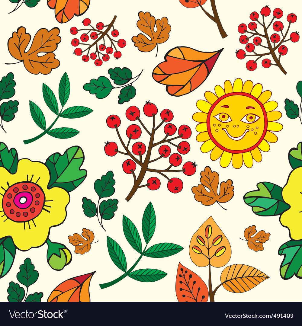 Autumn print pattern vector image