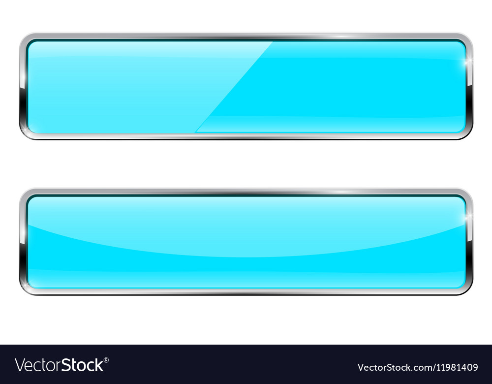 Blue turquoise buttons Rectangular web icons with vector image