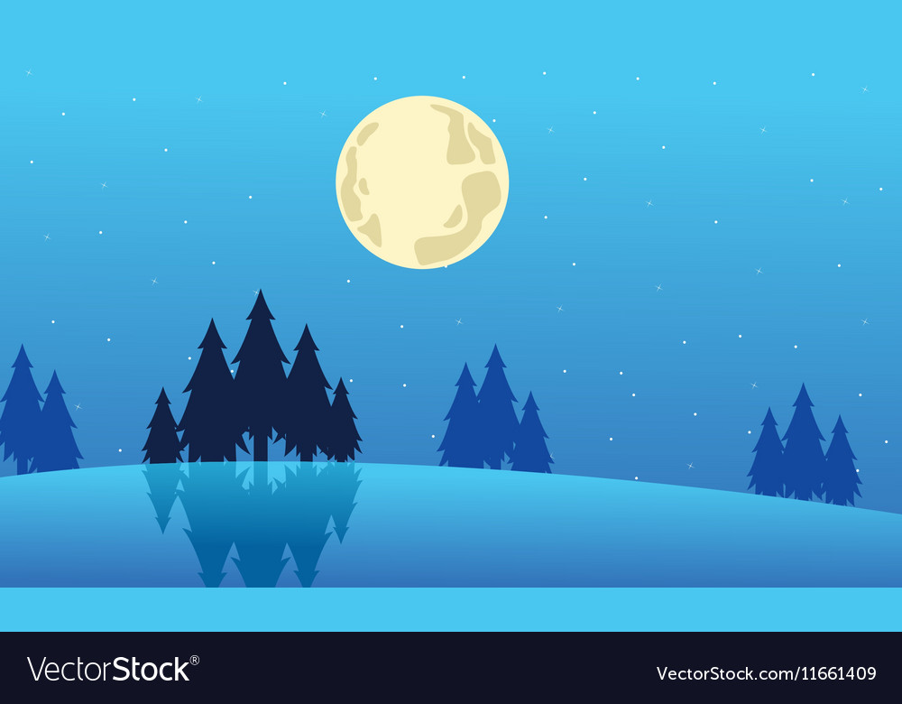 Landscape winter Christmas collection stock vector image