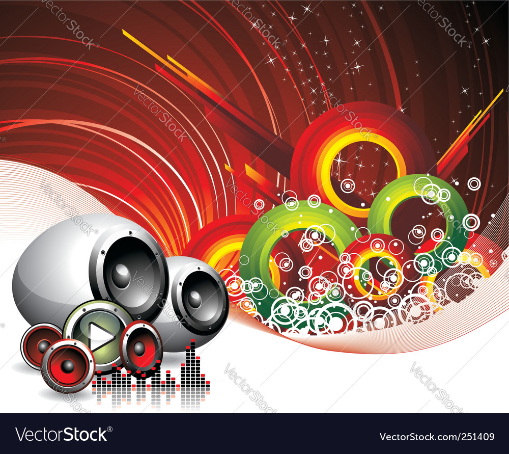 Music and speakers vector image