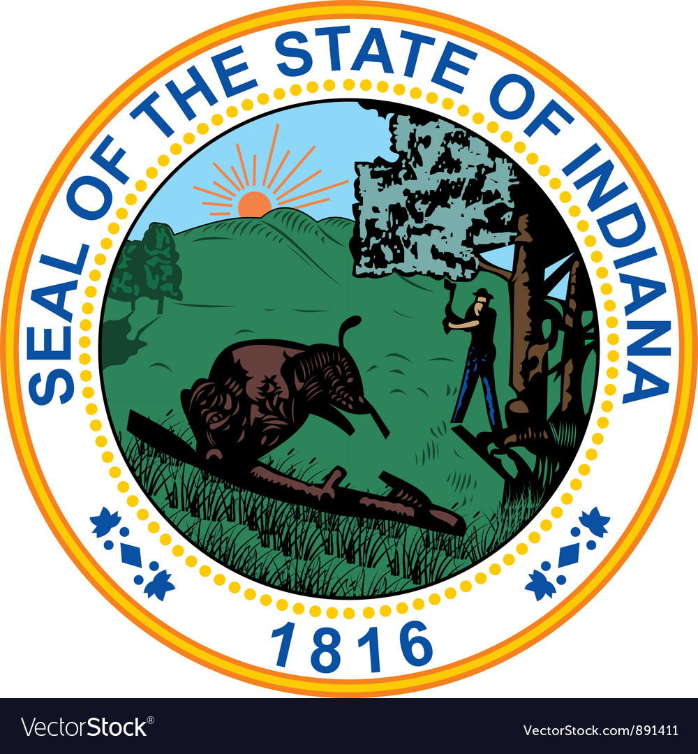 Indiana seal vector image