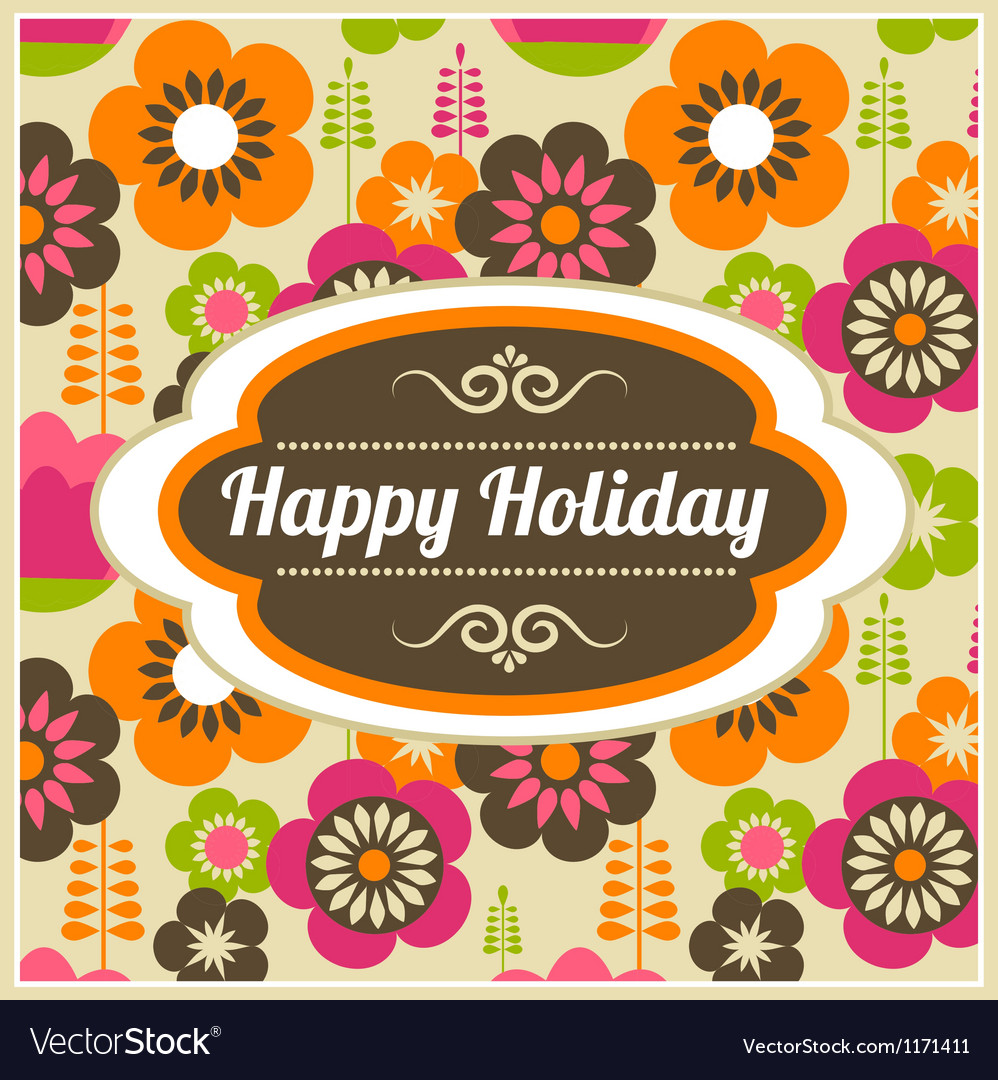 Background with frame and pattern vector image