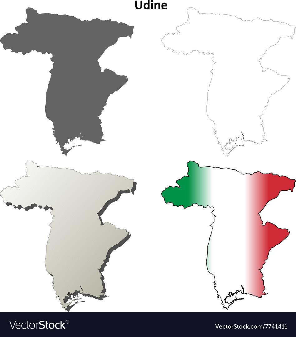 Udine Blank Detailed Outline Map Set Royalty Free Vector - Udine map