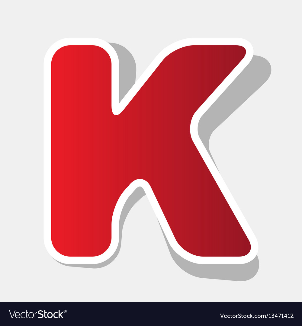 Letter k sign design template element new vector image spiritdancerdesigns Choice Image