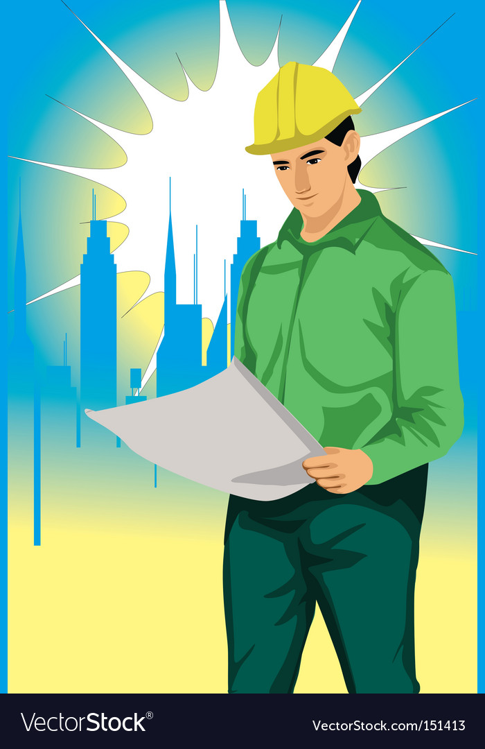 Engineer vector image