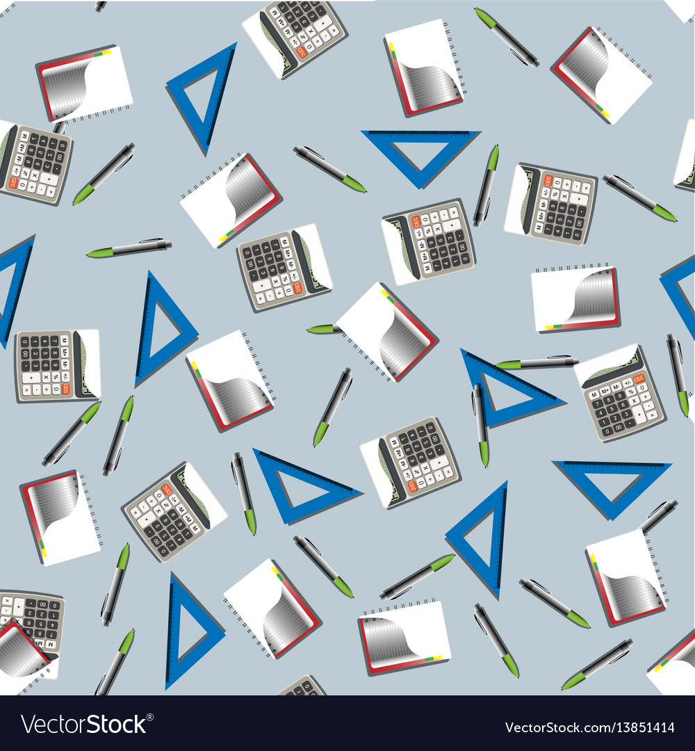 Office business seamless pattern vector image