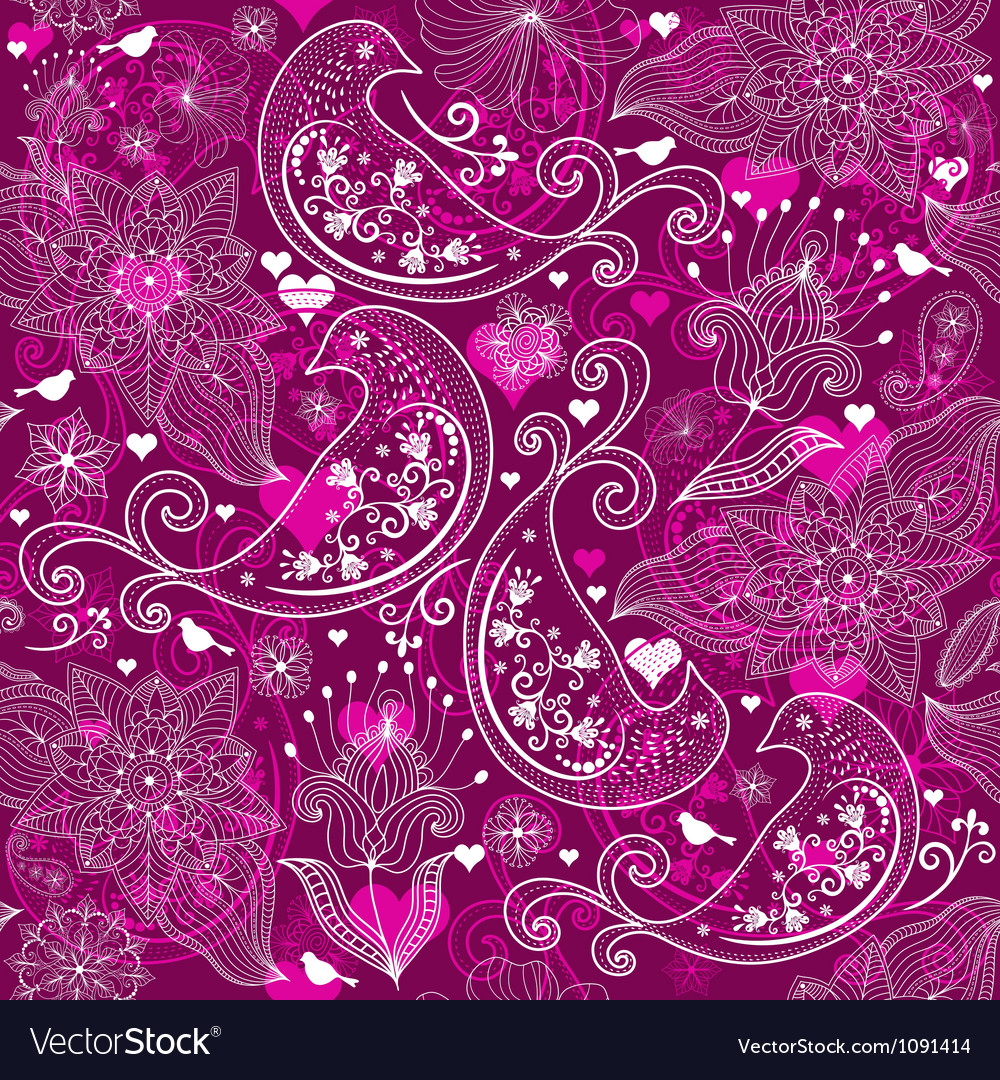 Seamless vinous valentine pattern vector image