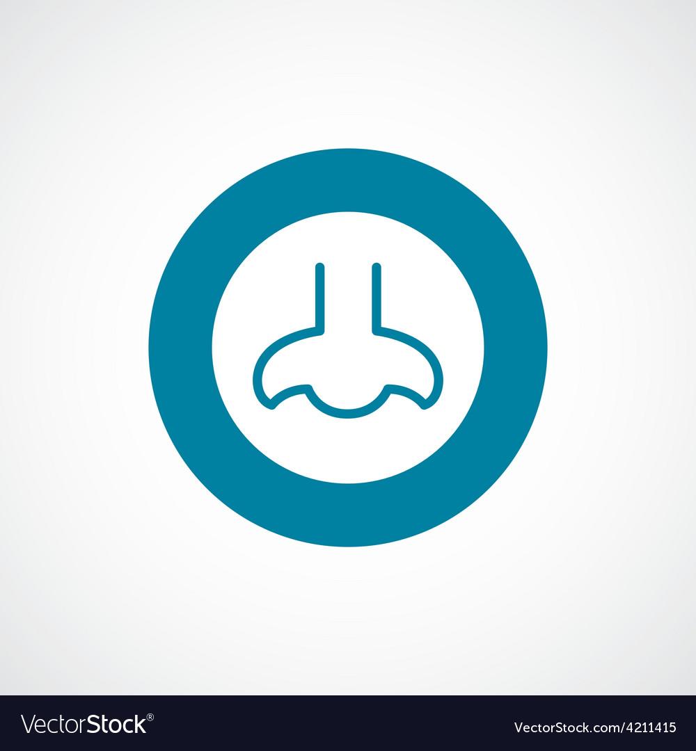 Nose icon bold blue circle border vector image