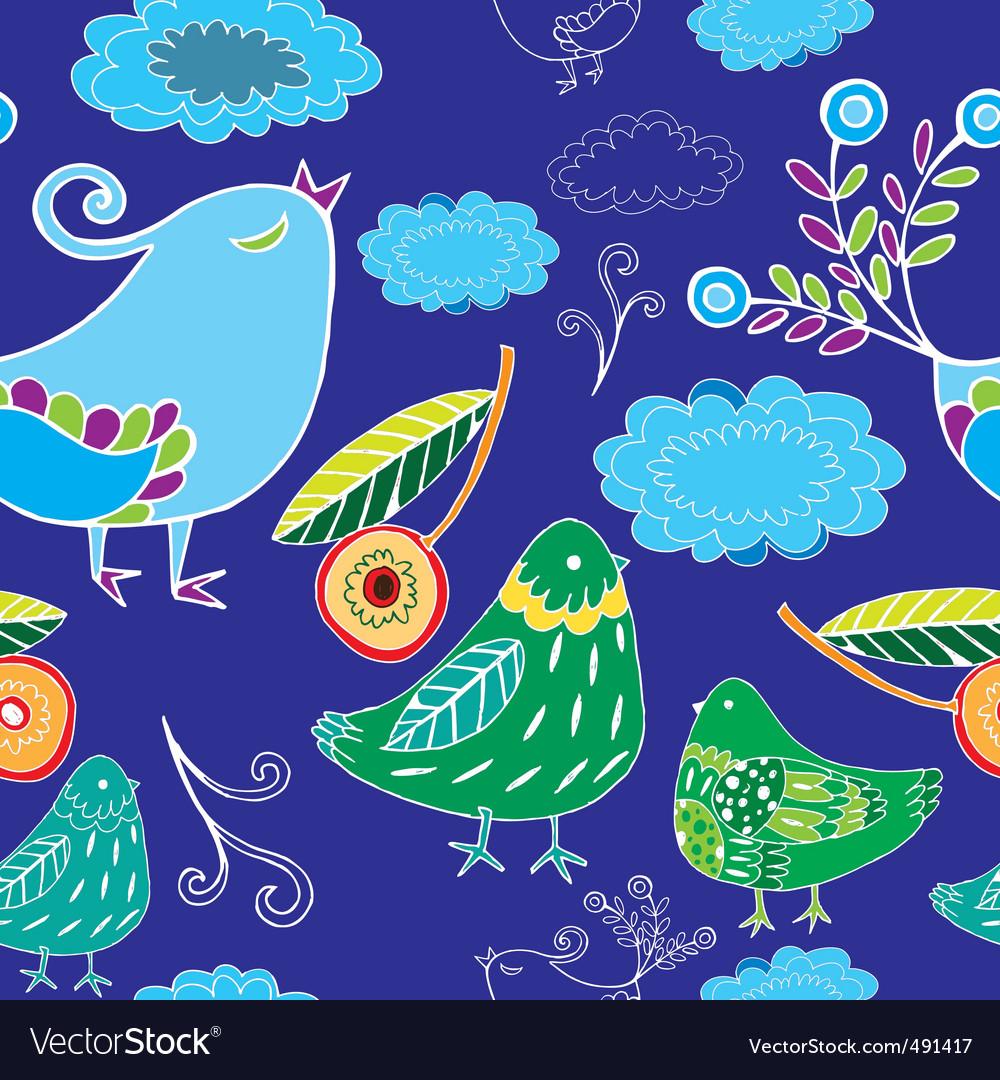 Birds pattern vector image