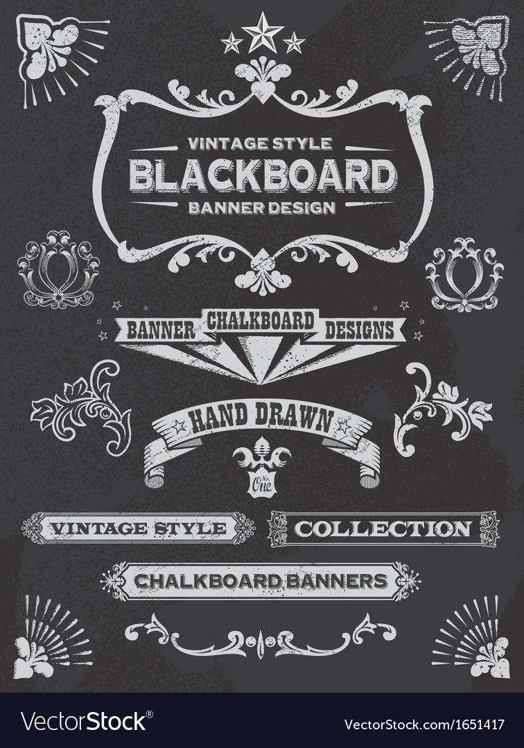 Vintage Chalkboard Design Elements vector image