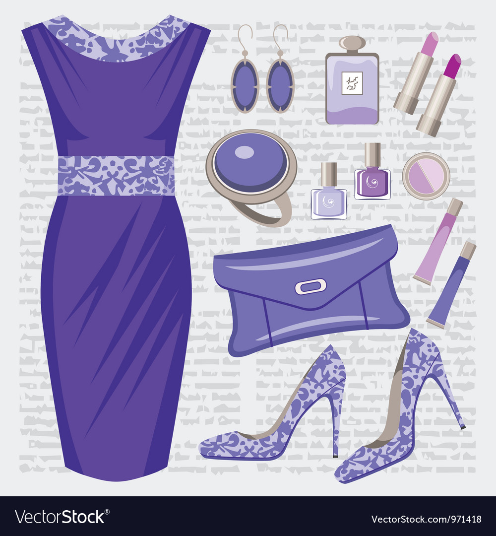 Fashion set vector image
