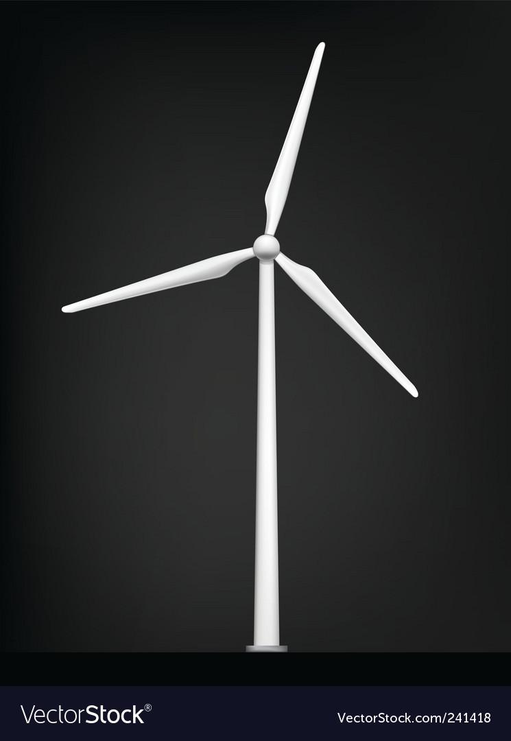Windmill vector image