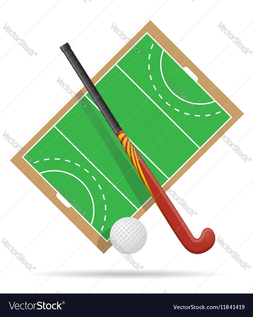 Hockey on the field vector image