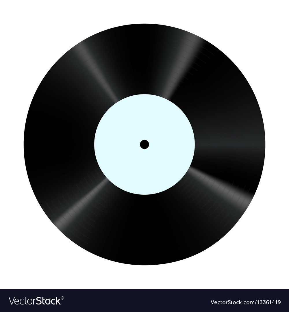 Vinyl record retro sound carrier plate for dj vector image
