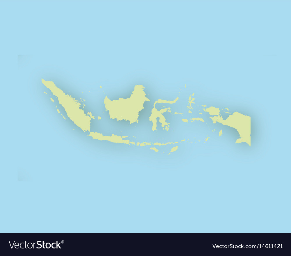 Map of indonesia with shadow vector image