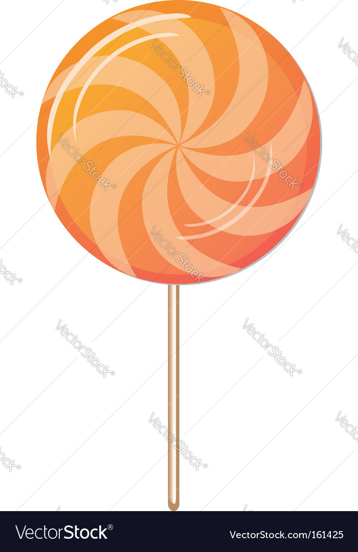 Candy twirl vector image