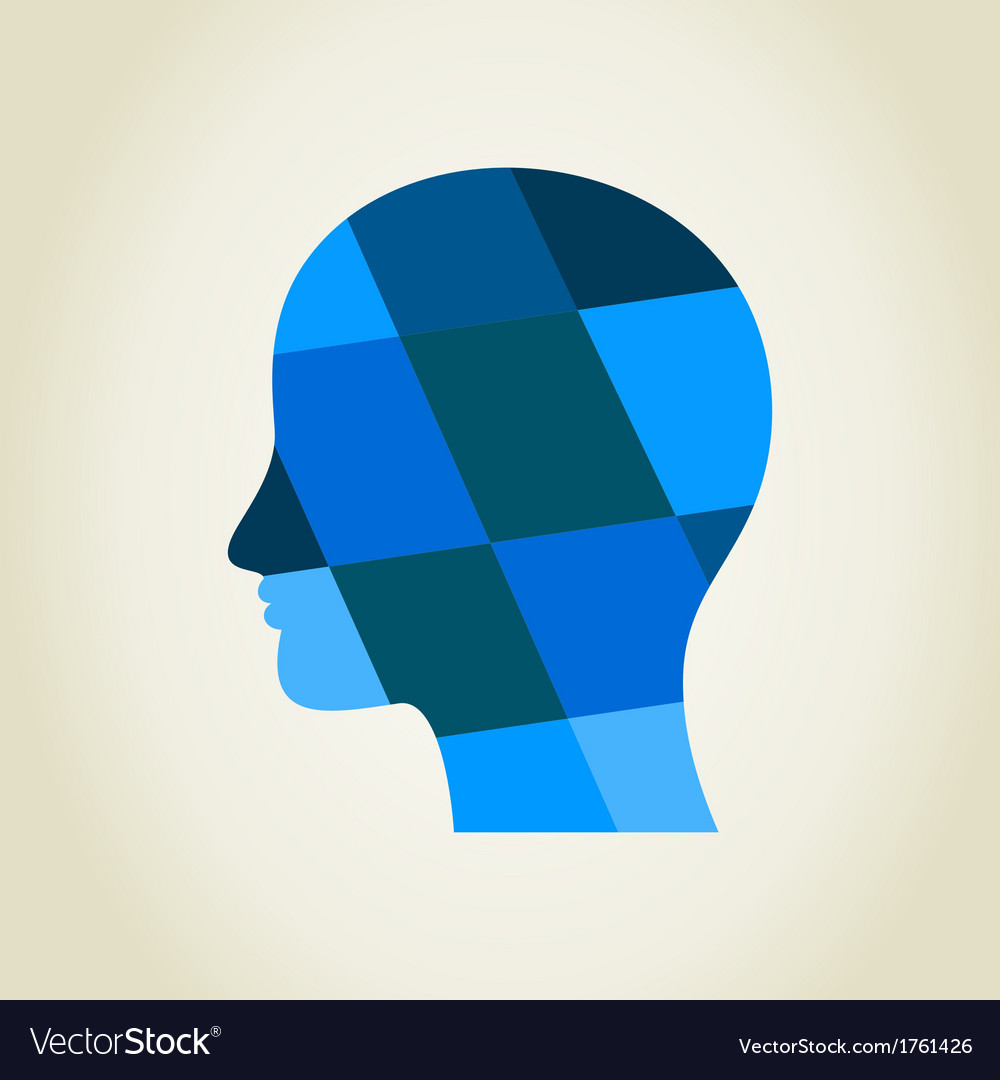 Head5 vector image