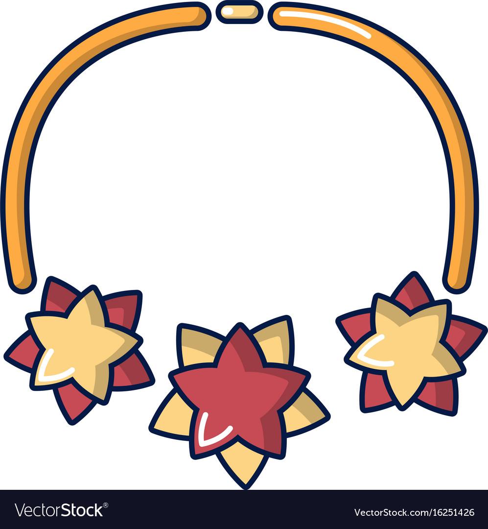 Necklace icon cartoon style vector image