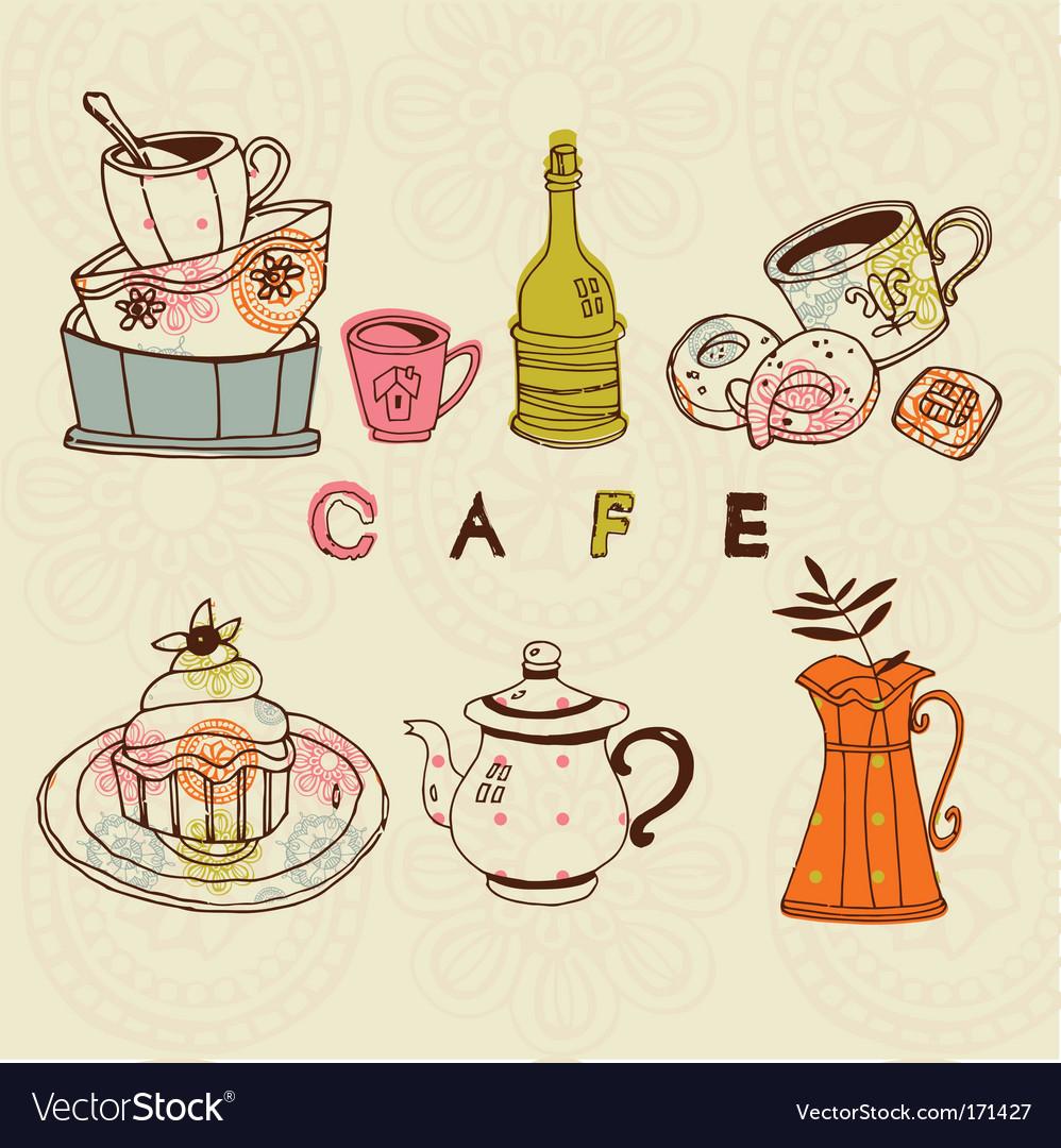 Cafe designs vector image