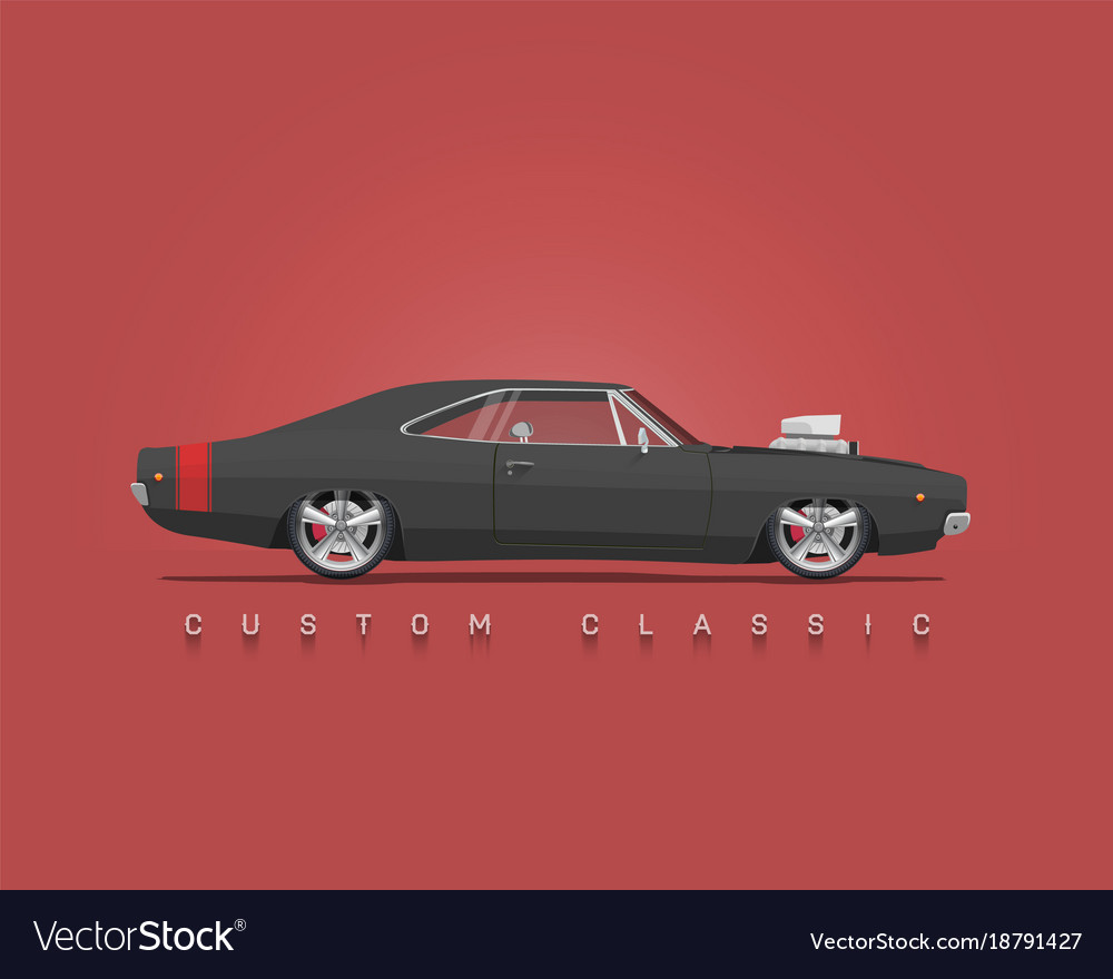 American classic muscle car Royalty Free Vector Image