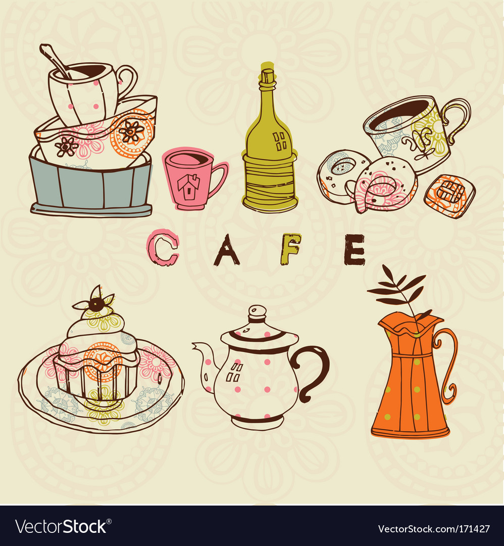 Cafe designs vector image