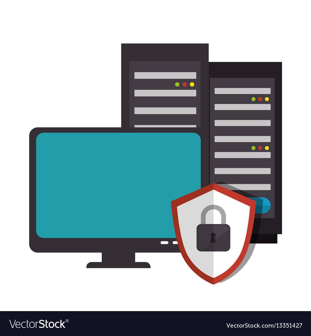 Computer desktop system icon vector image