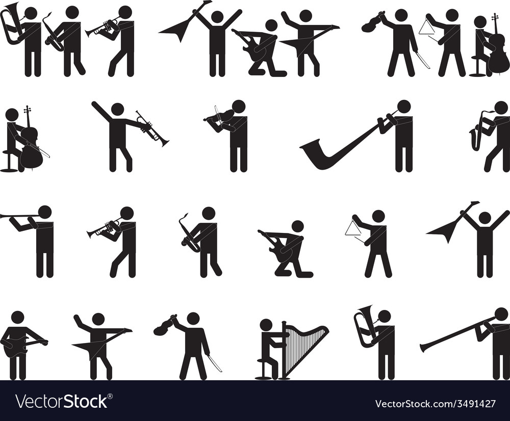 Pictogram people singing vector image