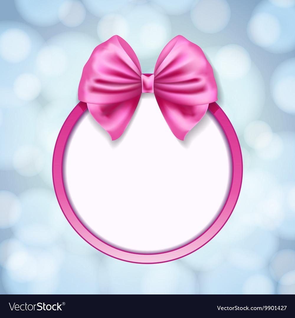 Pink ribbon bow vector image