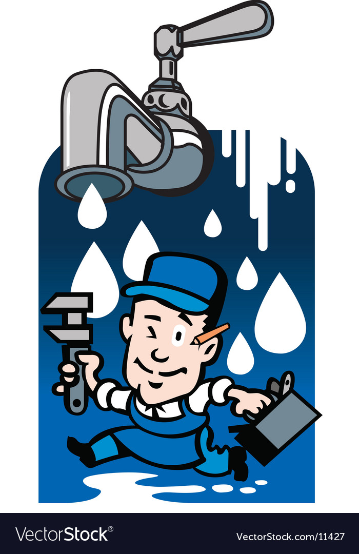Plumber needed vector image