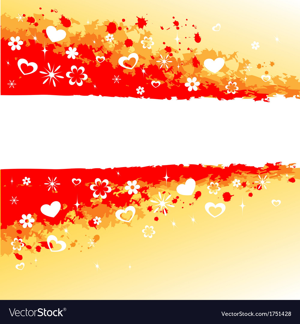 Grunge red background vector image