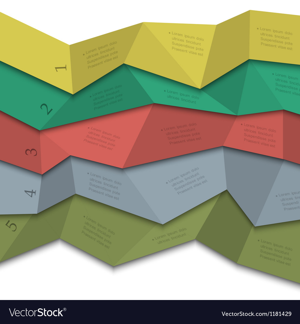 Origami style creative design template vector image