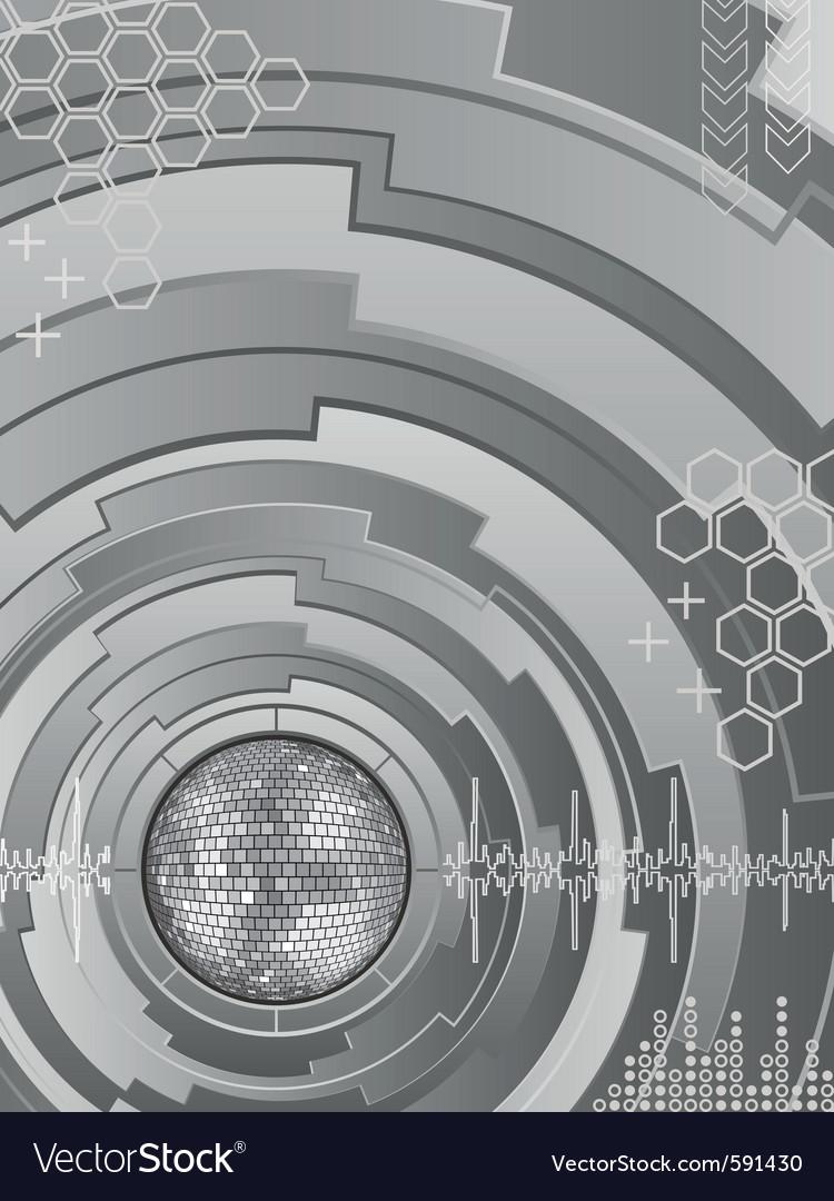 Electronic disco vector image